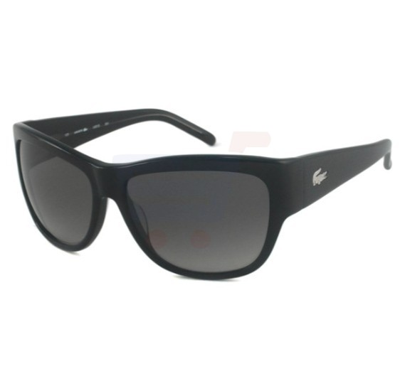 Lacoste Pilot Black Frame & Black Gradient Mirrored Sunglasses For Woman - L631S-001