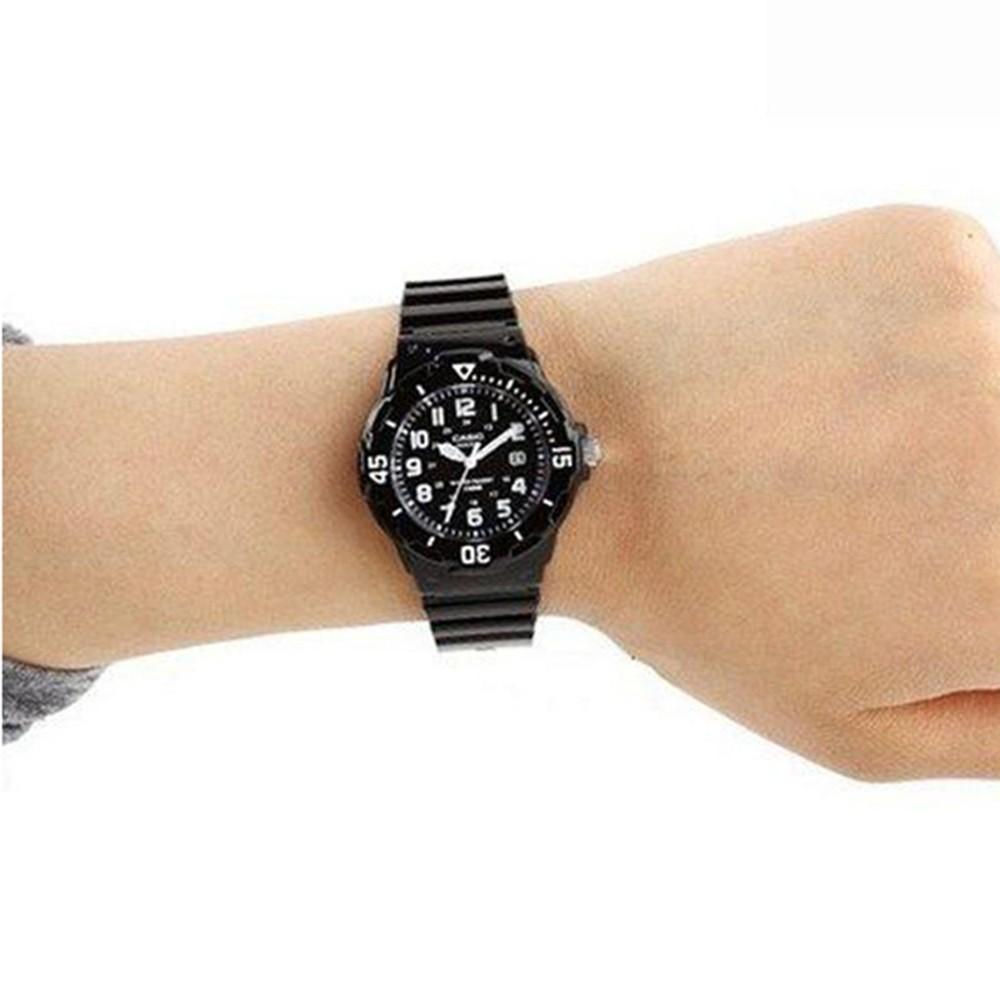 Casio Analog Black Watch, LRW-200H-1BVDF