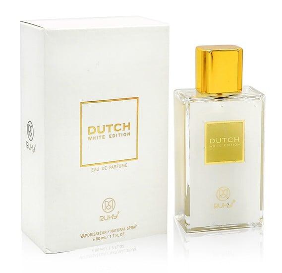 Ruky Dutch White Unisex 80ml+ Ruky Floral Drops Eau De Perfume 30ml