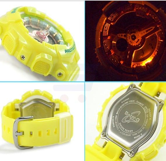 Casio G-Shock Women Yellow Watch BA-110CA-9A1DR