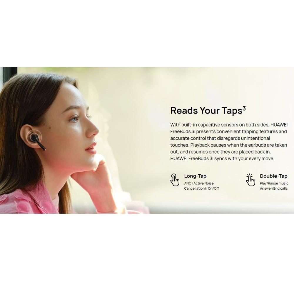 Huawei FreeBuds 3i Bluetooth Noise Cancelling Ear-Bud, Carbon Black