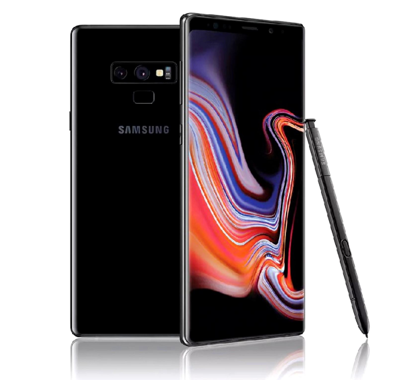 Samsung Galaxy Note 9, Dual SIM, 128GB, 6GB RAM, 4G LTE, Black.