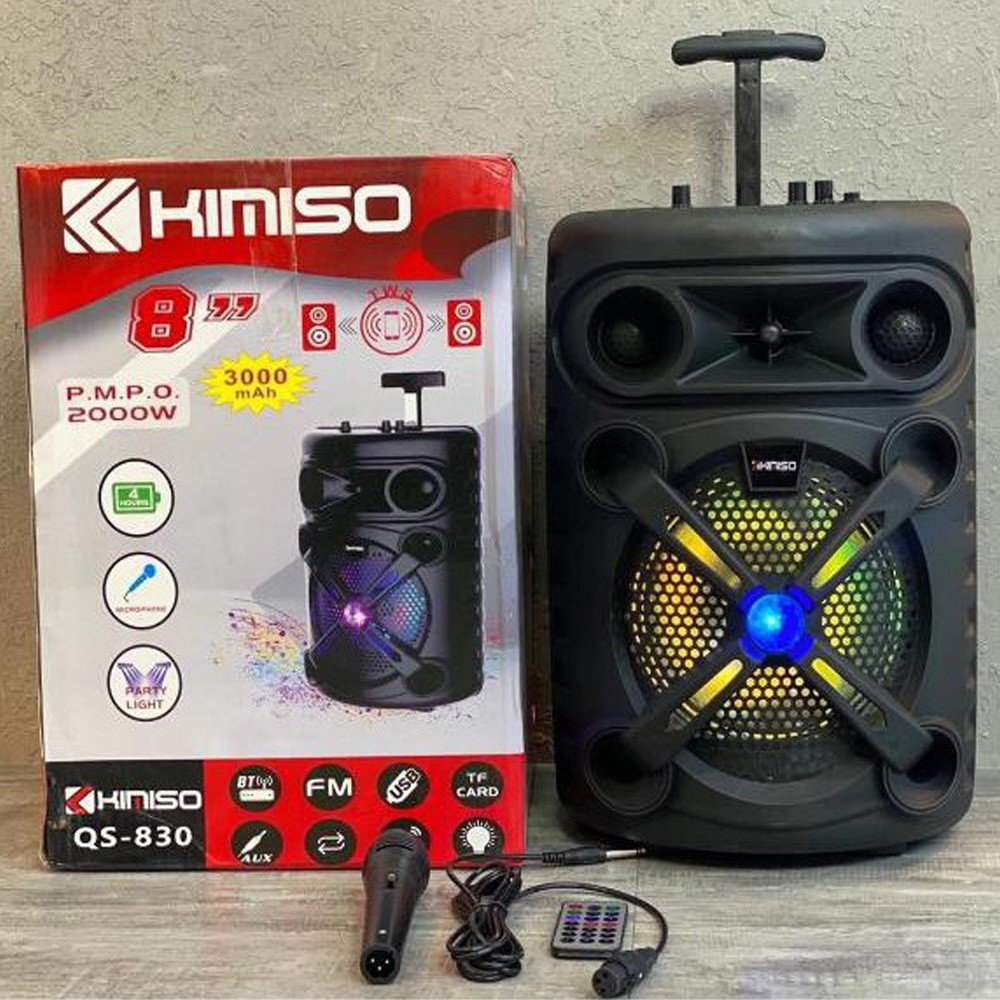 Kimiso Wirless Bluetooth Speaker 3000 mAh With Mic, QS-830