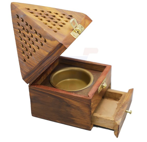 Piramid Wooden Manual Burner For Bakhoor - OS-PWMB-1321