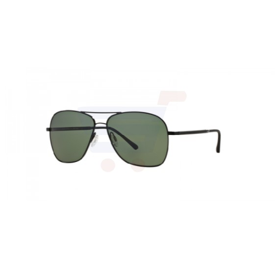 Oliver Peoples Aviator Black Frame & Green Mirrored Sunglasses For Men - OV1183S-50479A