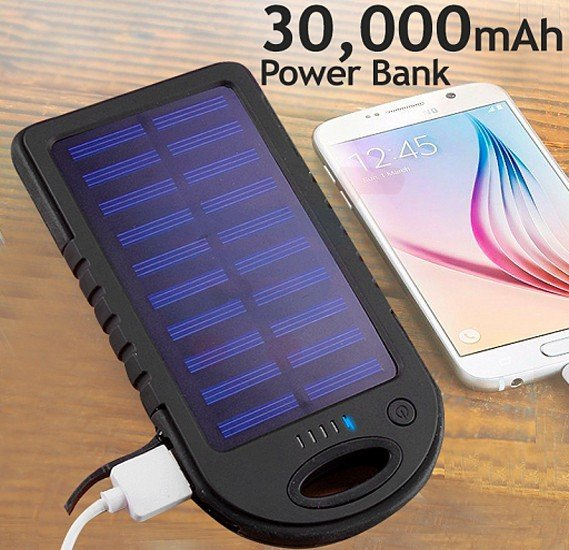 Multicolour 30,000mAh Power Bank For Smartphones & Tablets with LED changing light function