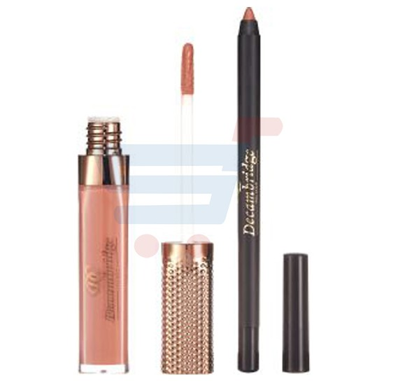 Decambridge Brown Matte Liquid Lipstick and Lip Liner, LP28