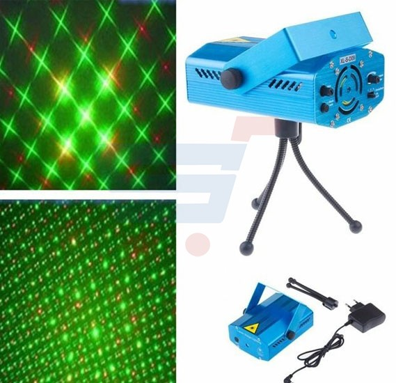 6 in 1 Portable Mini Laser Stage Light  Projector 150mw For Disco Party DJ Bar Club
