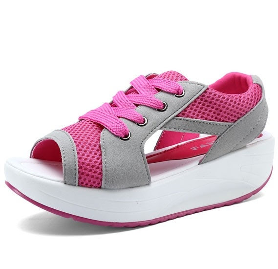 Generic Women Breathable Exercise Shoes,Pink,Size 36