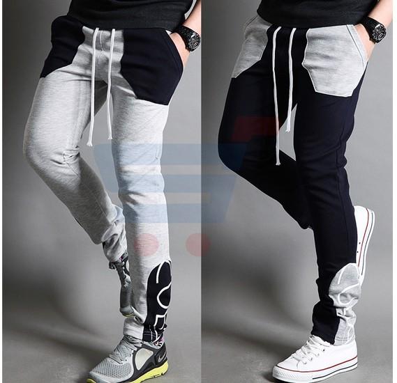Mens CUBA Sporty Designer Trouser Black - 1853 - XL
