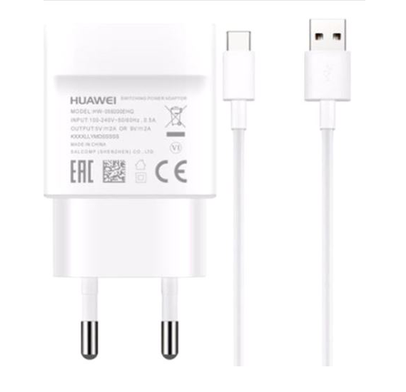 Huawei Type C  Quick Home charger,Original Adapter Like Mobile Charger | Power Adapter | Wall Charger | Fast Charger | Android Charger |  Battery Charger Hi Speed Travel Charger With 1 Meter USB Type C Cable USB Cable Data Cable Charging Cable