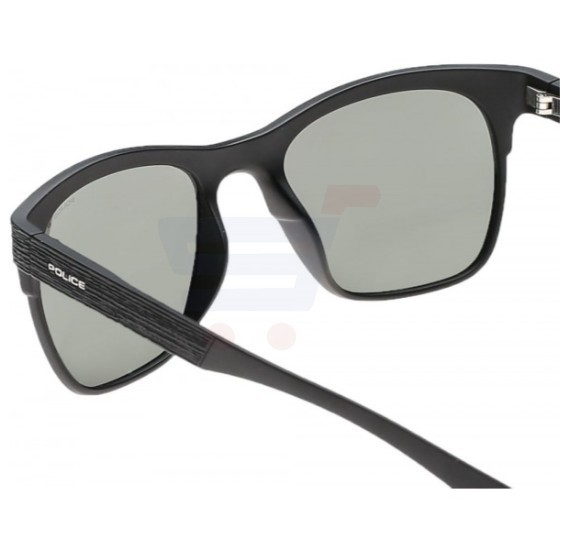 Police Aviator Black Frame & Polarised Green Mirrored Sunglasses For Men - S1950M-U28P