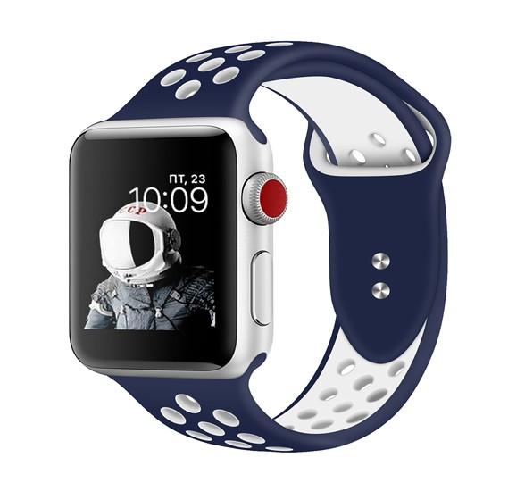 Promate Oreo-42MLSmart Watch Wrist Strap, Blue/White