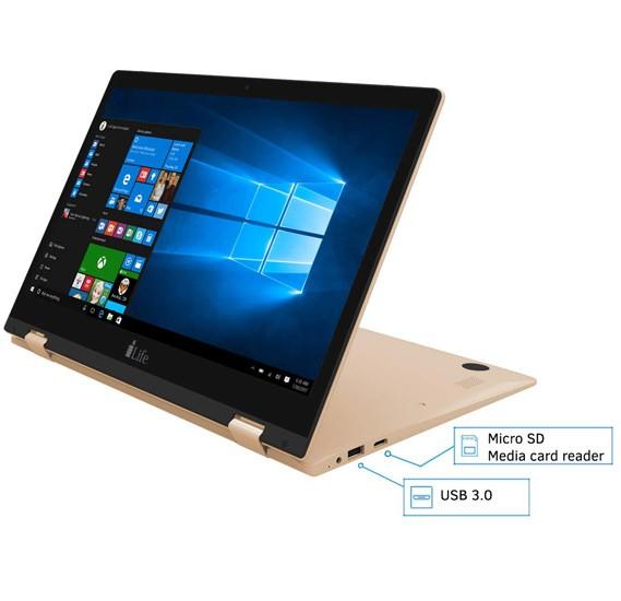 i-Life Zed Note II Laptop, 13.3 inch Display, 2GB RAM 32GB SSD,Intel HD 400 Graphics, Gold