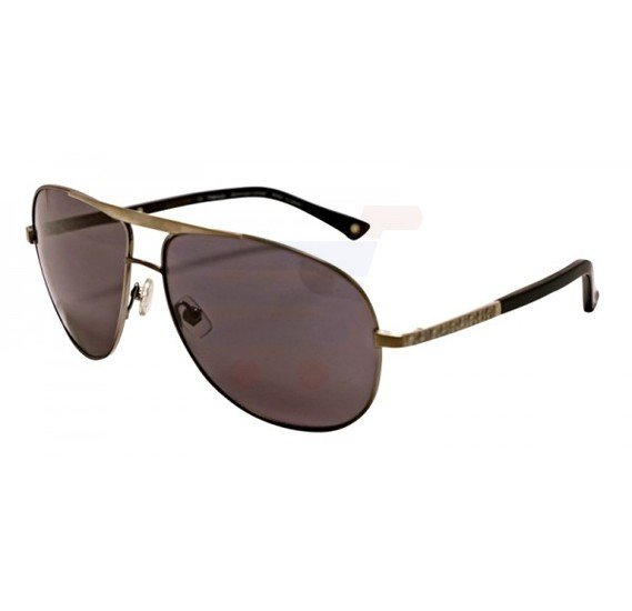 Aigner Aviator Matte Gunmetal Gray Frame & Brown Gradient Mirrored Sunglasses For Unisex - AI-SM-001-9COL1
