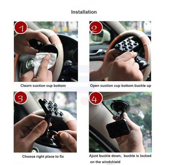 Mobile Phone Bracket Holder with Sucker Grip