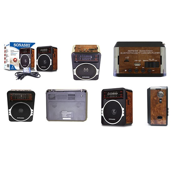 Sonashi Rechargeable Portable Radio, SRR-88