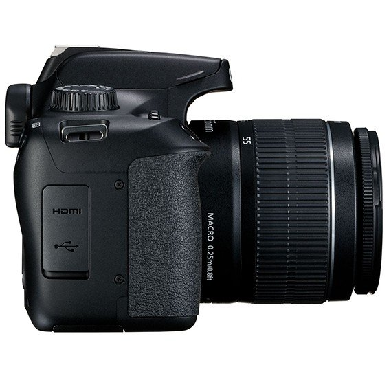 Canon EOS 4000D DSLR Camera with EF-S 18-55 mm f/3.5-5.6 III Lens, 18 MP, Black