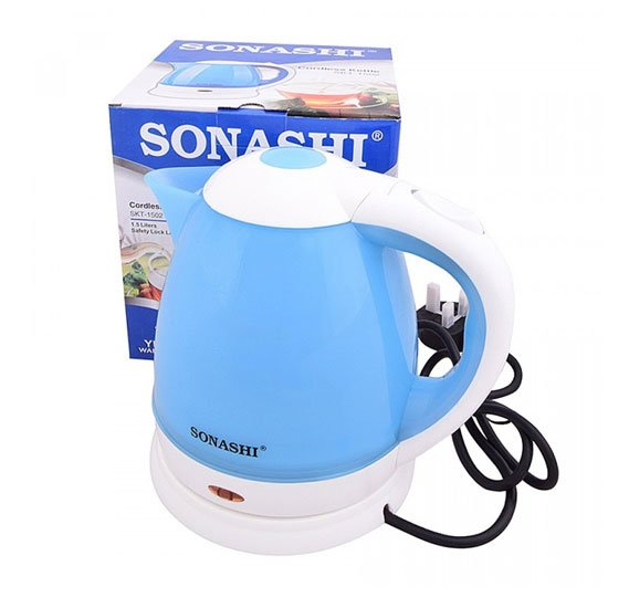 Bundle Offer ! Sonashi 2 Slice Non-Stick Grill Plate SGT-853 + Sonashi 5 SPEED Hand Mixer, 200W SMX-128 + Sonashi 1.5L Cordless Kettle SKT-1502