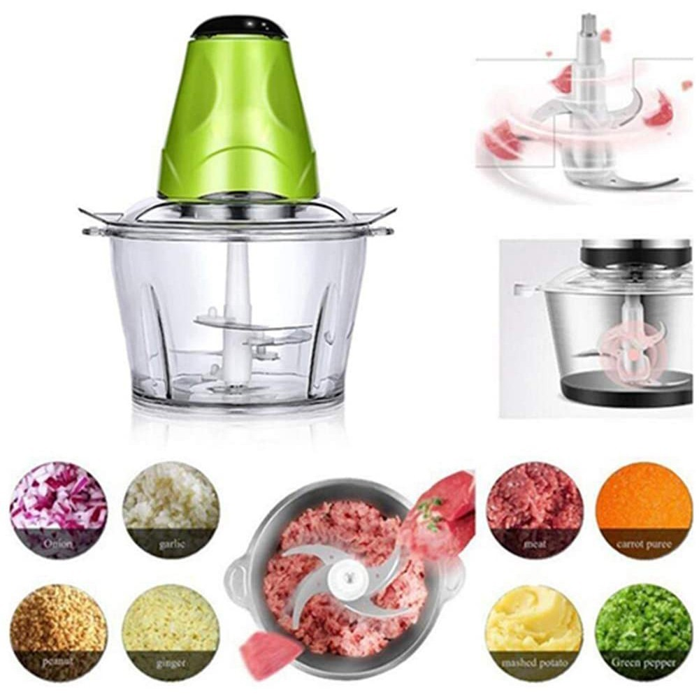 2 in 1 Bundle Pack Electric Vegetable Fruits, Nuts Chopper and Meet Grinder and Foldable Multifunction Chopping Board
