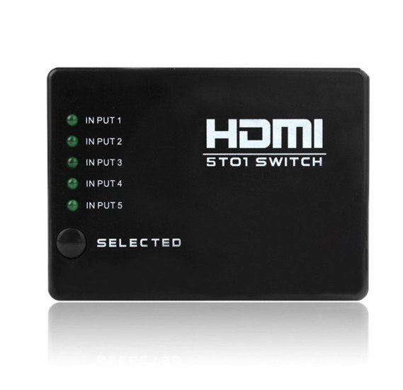 5 Port HD 1080P Video HDMI Switch Switcher Splitter for HDTV PS3 DVD IR Remote