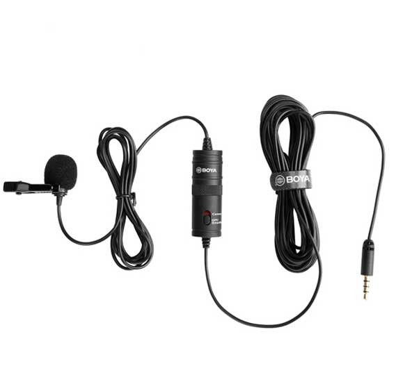 Boya BYM1 Omni Directional Lavalier Condenser Microphone with 20ft Audio Cable