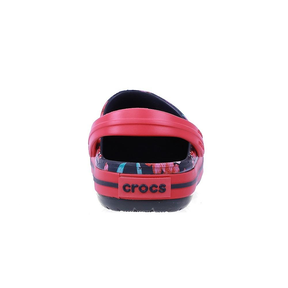 Crocs Kids Clogs Sandals Croc Band Flower Print Clog K Navy 205898-4KC, Size 33