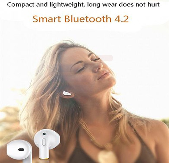 New Stylish Wireless Bluetooth Mini Single Earbuds Earphone With Mic, Mini i8X
