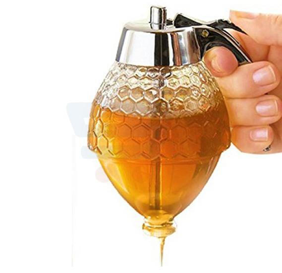 DM Honey Dispenser - Kids Friendly, Syrup Dispenser, Shatter Proof, BPA Free