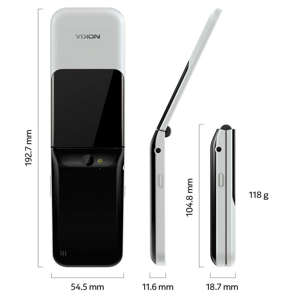 Nokia 2720 Flip Dual SIM 4GB 512MB RAM 4G LTE, Grey