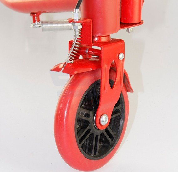 Frog sewing scooter with handbrake with ring bell 2152-Red