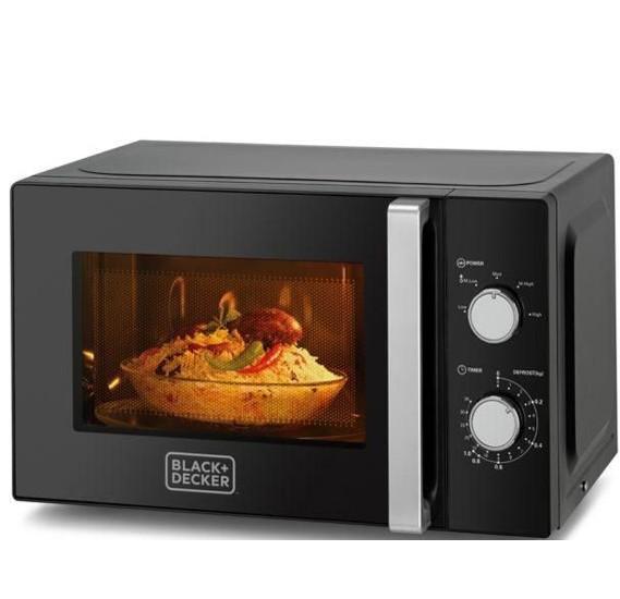 Black & Decker 20 Ltr Microwave Oven (Black), MZ2010P-B5