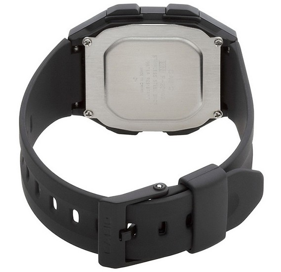 Casio Digital Dial Watch For Men, Black-F-201WA-1ADF