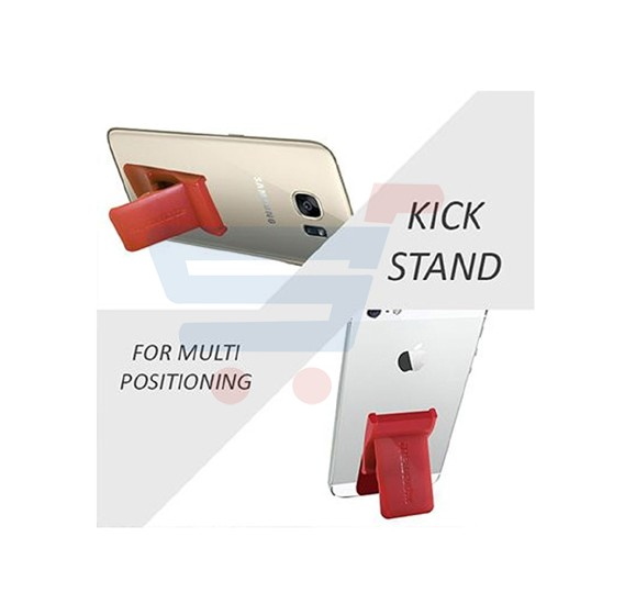 Promate Universal Smartphones Grip Mate Secure Finger Grip and Kick Stand, GRIPMATE.MAROON