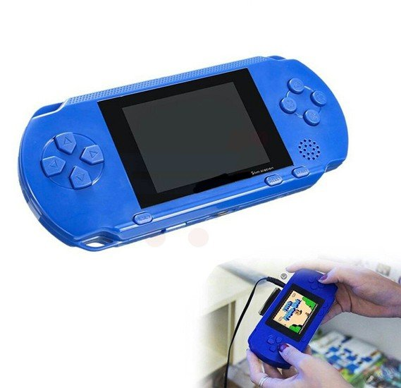 PXP3 Slim Station Video Games Player Handheld Game 2.8 Inch 16 Bit  with Game Card Console built-in 999999 Classic Games and TV AV-OUT Function