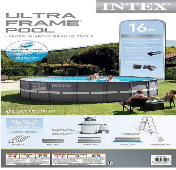 Intex Ultra Frame Tm Pool Set, Ages 6+ - 26334