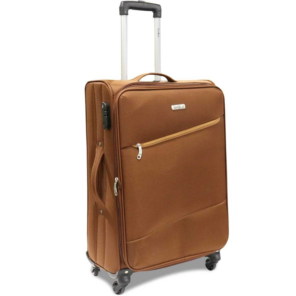 Traveller 4 Wheel Soft Trolley 3pcs Set, TR-3310, Brown