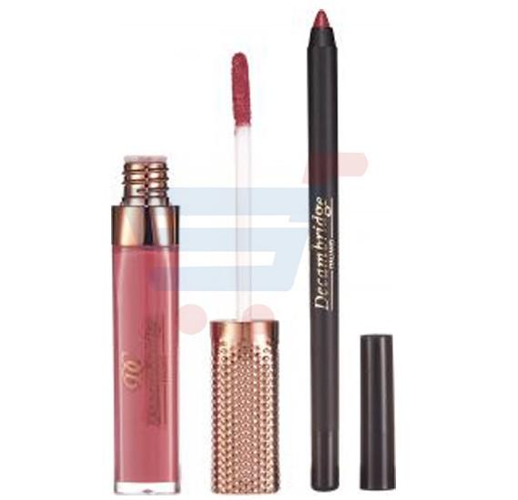 Decambridge Dark Choco Matte Liquid Lipstick and Lip Liner, LP30