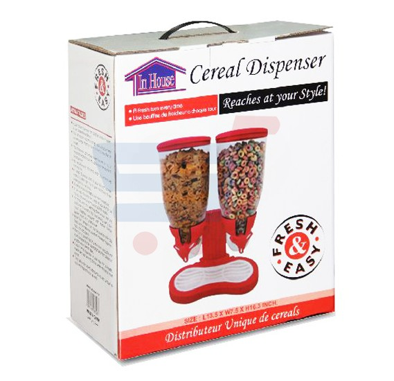 Orbit Double Cereal Dispenser, HHNE7827- Red