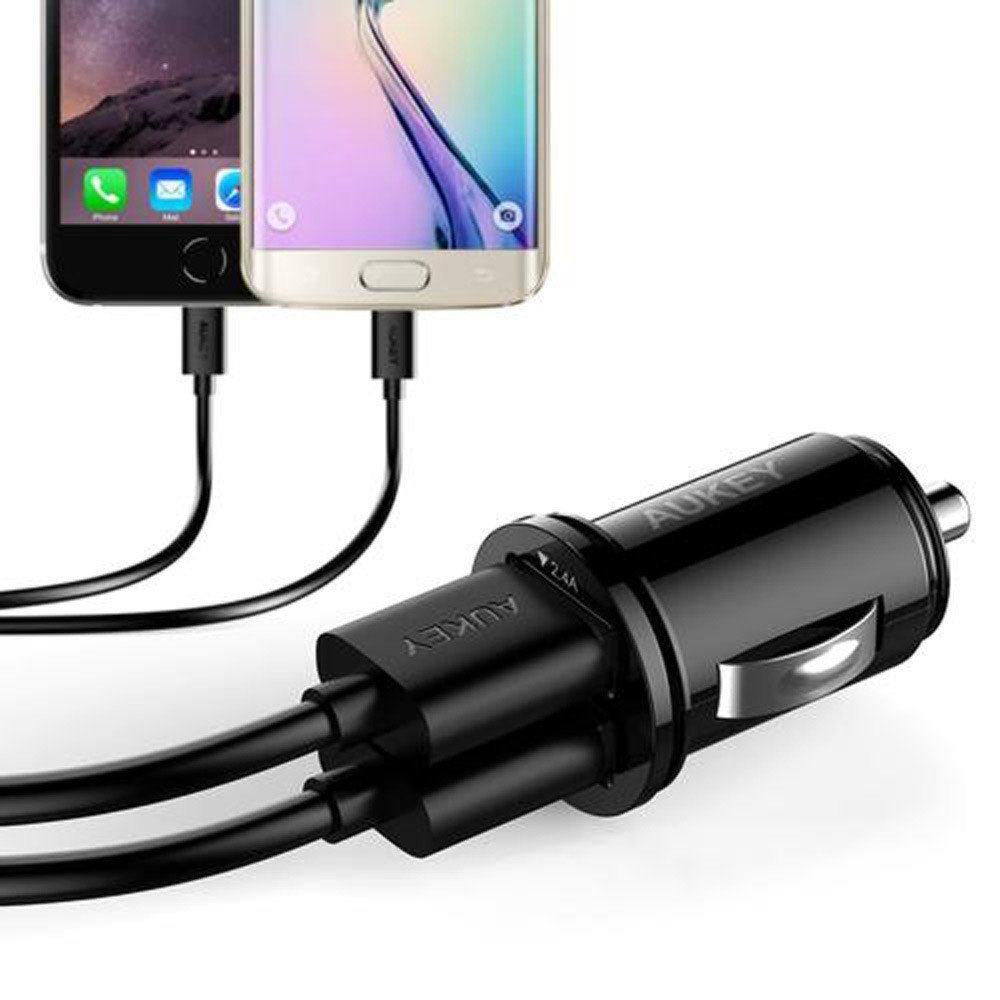 Aukey CC-S1 Universal True AiPOWER 24W 4.8A Dual Port Car Charger