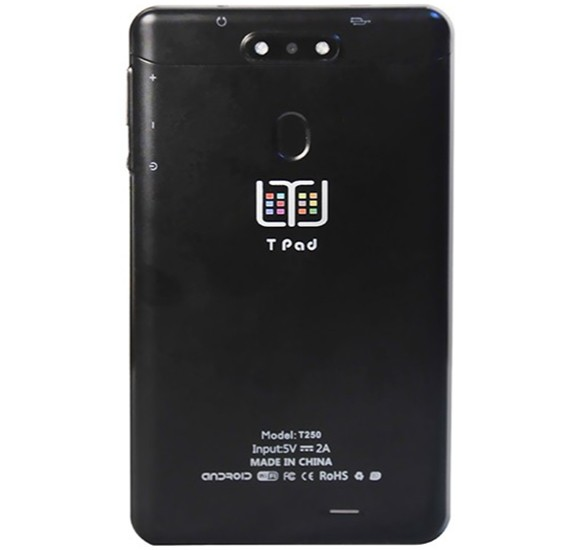 T-Pad 250 Andriod 6.0, 7 Inch Tablet Quard Core 2GB Ram 16GB storage 4G-wifi Black,Dual sim