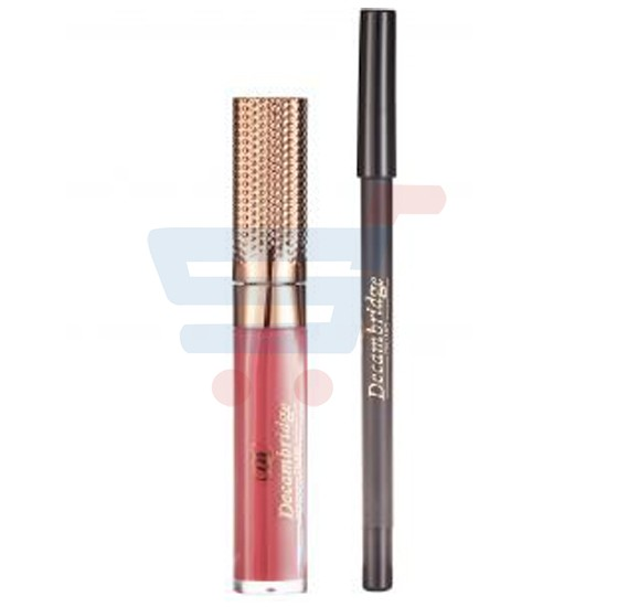 Decambridge Reddish Maroon Matte Liquid Lipstick and Lip Liner, LP04