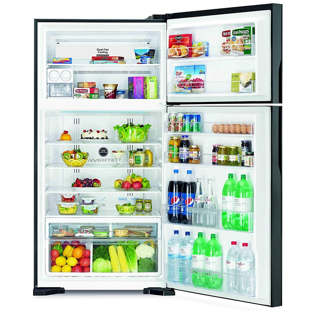 Hitachi 820 Liter Top Mount Refrigerator, Brilliant Silver, RV820PUK1KBSL