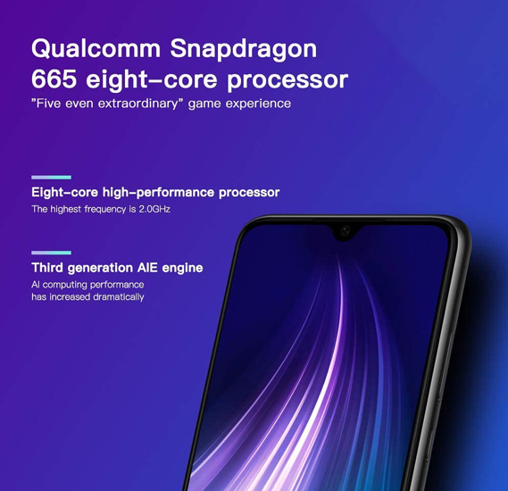 Xiaomi Redmi Note 8 Dual SIM 4GB RAM 128GB Storage 4G LTE, Space Black