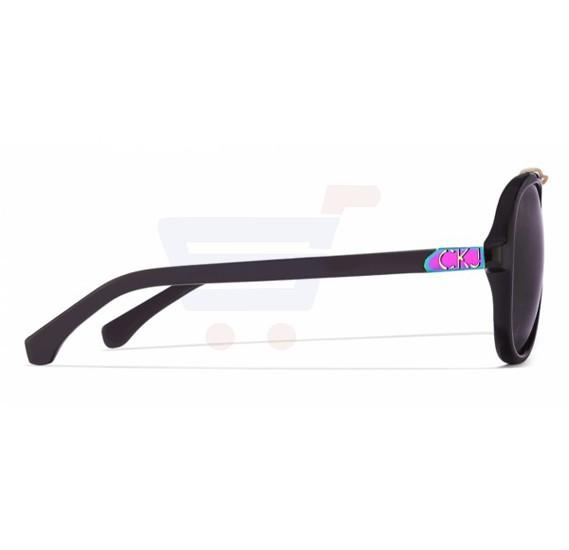 Calvin Klein Aviator Black Frame & Grey Mirrored Sunglasses For Unisex - CKJ751S-001