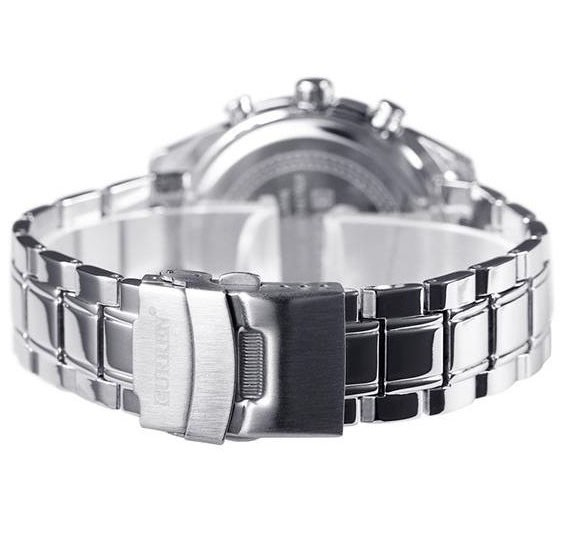 Curren Luxury Design Stainless Steel Business Watch For Men, 8010, Silver Black