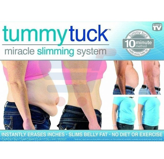Slimmy Belly Fat Tummy Tuck Miracle Slimming System, Complete Kit