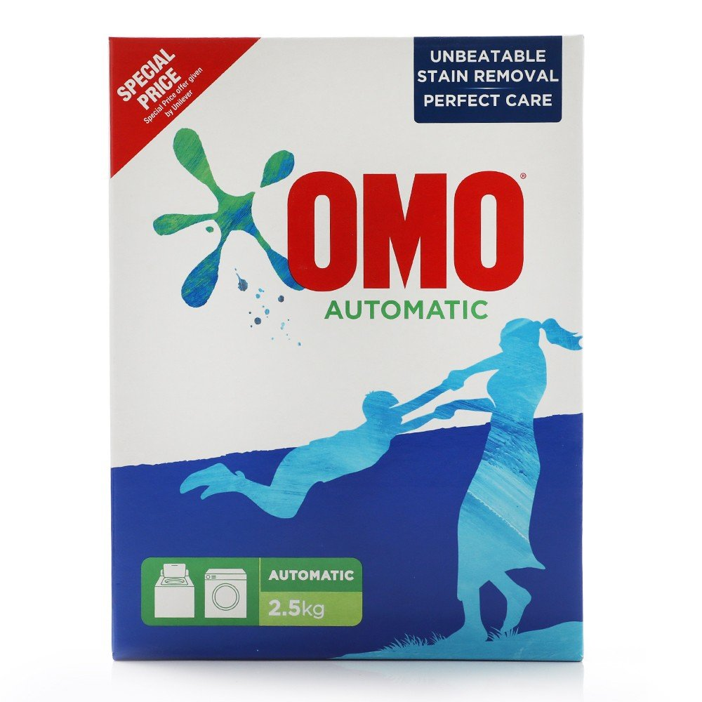 Omo Front Load Detergent Powder Active Auto Ls 2.5kg@Spl Price