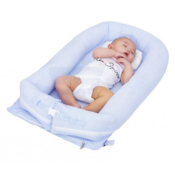 Sunveno Baby Co-Sleeping Bed Organic Blue
