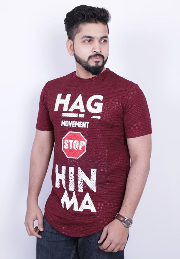 Nansa Mens Tshirt Maroon - NAABF15612X - M